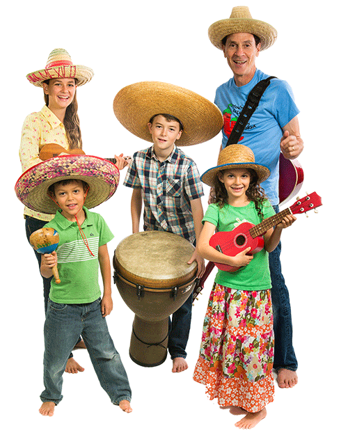 The Springmans family band - kids music at myhappybeach.com
